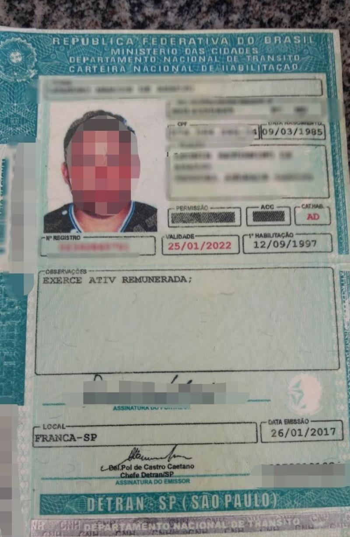 Em CNH falsa, motorista em Goiás teve primeira habilitação