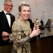 Frances McDormand, no Governor's Ball, com a estatueta, antes do roubo Foto: Eric Jamison/Invision/A