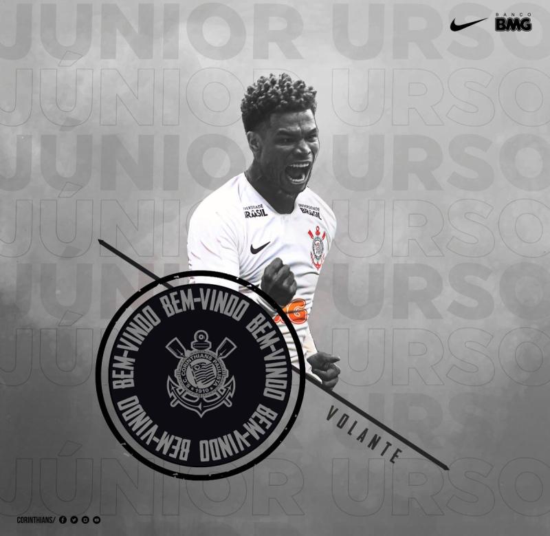 Junior Urso é anunciado pelo Corinthians e diz que  coração é preto e  branco  cdccbc030b711