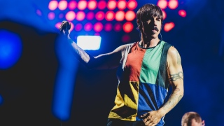 Anthony Kiedis do Red Hot Chili Peppers no Palco Mundo, em 2017